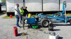 Redo för sjösättning vid slipen i Tullingesjön