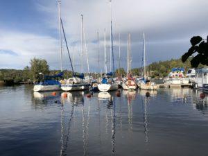 Bryggan i Vårby i Mälaren - TSS båtklubb