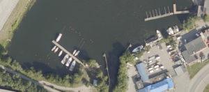 Satellitbild från Hitta.se på Vårbybryggan i Mälaren - TSS Båtklubb