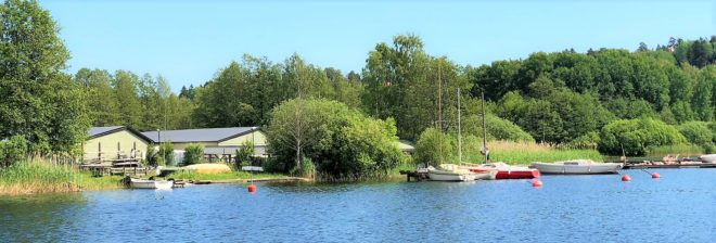 Varvsområdet och Slipenbryggan i Tullingesjön - TSS båtklubb
