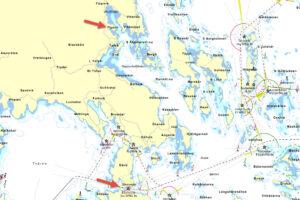 Karta Sävö, Sävösund och Piparholmen - TSS Båtklubb