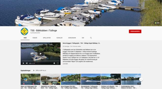 Nu finns vi på YouTube - TSS Båtklubb