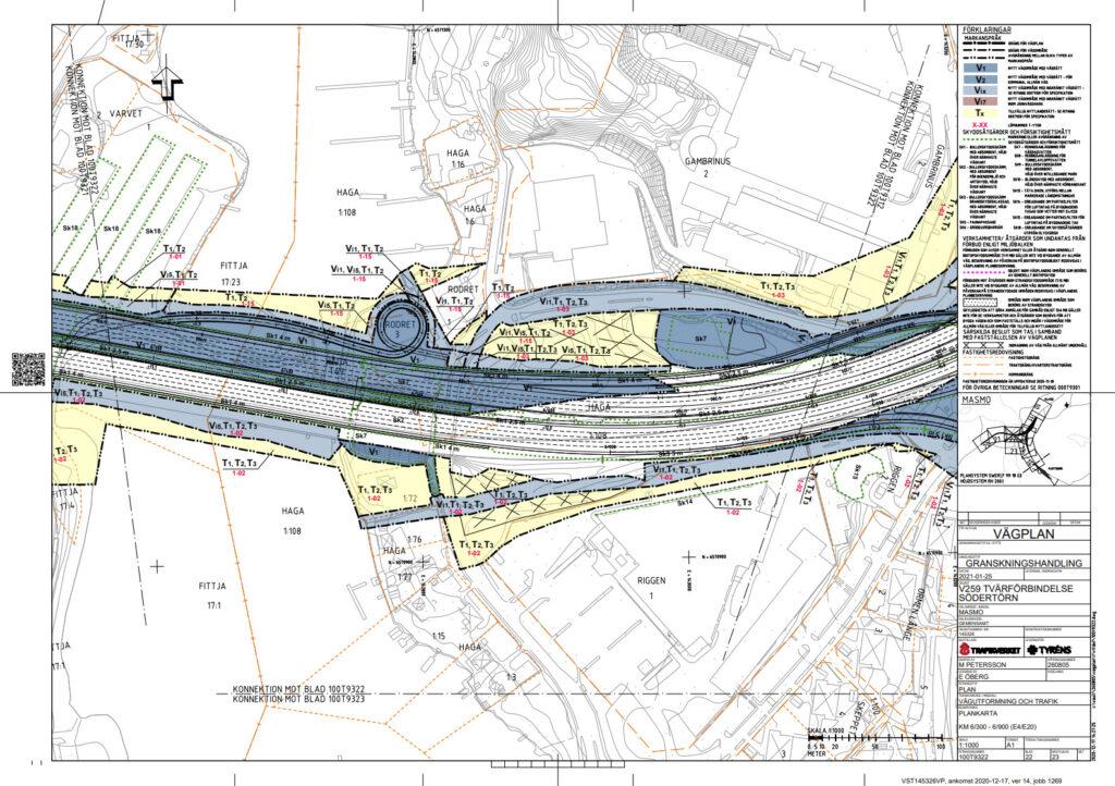 Trafikverket vill bygga om vid Vårbybryggan - karta - TSS