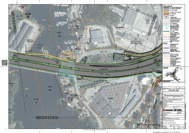 Trafikverket vill bygga om vid Vårbybryggan - karta med bild - TSS