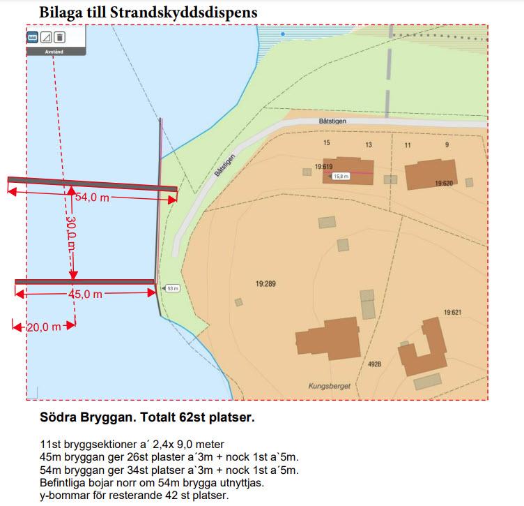 Södra Bryggan i Tullingesjön - Bilaga till Stranskyddsdispens - TSS - Båtklubben i Tullinge