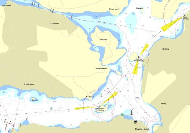 Vårbyfjärden, Fiskarfjärden och Rödstensfjärden i Mälaren - TSS - Tullinge Segel Sällskap - Båtklubb
