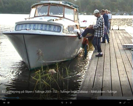Båtupptagning på Slipen i Tullinge 2001- TSS - Tullinge Segel Sällskap - Båtklubben i Tullinge